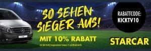 KICK.TV-Rabattcode für STARCAR Hamburg